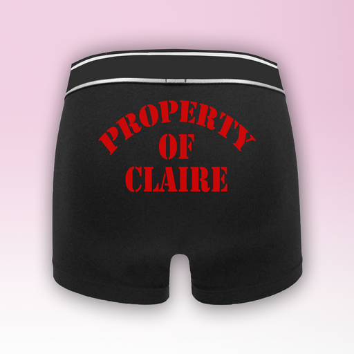 Property Of  Personalised Name Men's Boxers