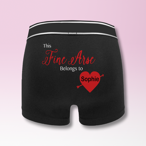 Fine Arse Men's Personalised Name Boxers