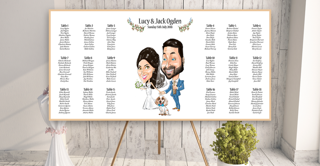 wedding caricature table plan