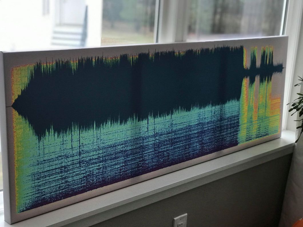 A wedding song captured as a Sound Shadow