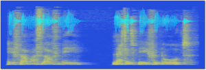 sound shadow voice and sound art in blue and gold