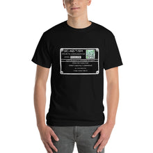 Load image into Gallery viewer, Galactic Communicator Equipment Plate - Unisex T-shirt - Scan for a critical message from the stars