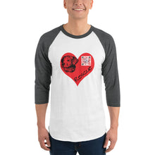 Load image into Gallery viewer, Sound in My Heart - Rescue Dog Unisex 3/4 sleeve raglan shirt