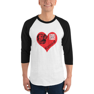 Sound in My Heart - Rescue Dog Unisex 3/4 sleeve raglan shirt