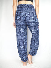 Load image into Gallery viewer, Elephant Stamp 13 women harem pants in Navy PP0004 020013 06