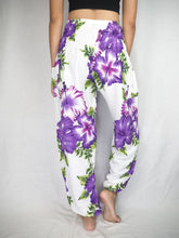 Load image into Gallery viewer, Color flower 19 women harem pants in Purple PP0004 020019 03