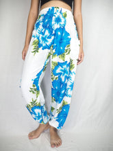 Load image into Gallery viewer, Color flower 19 women harem pants in Blue PP0004 020019 04