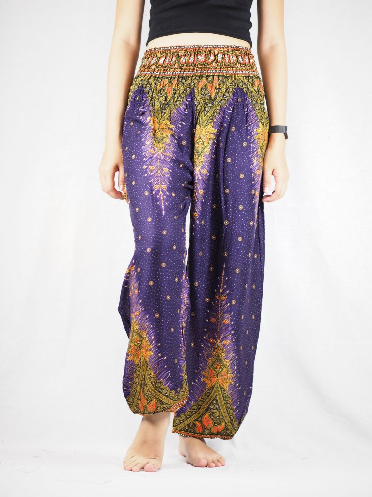Peacock 42 women harem pants in Purple PP0004 020042 03