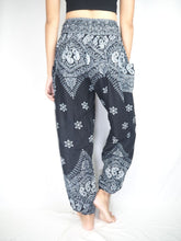 Load image into Gallery viewer, Flower drops 70 women harem pants in Black PP0004 020070 07