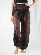 Load image into Gallery viewer, Dark dream catcher 83 women harem pants in Brown PP0004 020083 05