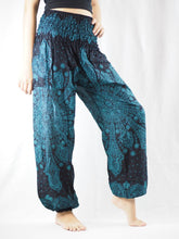 Load image into Gallery viewer, Dark dream catcher 83 women harem pants in Blue PP0004 020083 06