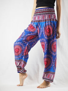 Colorful sunflower 94 women harem pants in Navy PP0004 020094 01