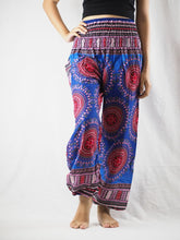 Load image into Gallery viewer, Colorful sunflower 94 women harem pants in Navy PP0004 020094 01