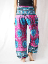 Load image into Gallery viewer, Colorful sunflower 94 women harem pants in Pink PP0004 020094 02