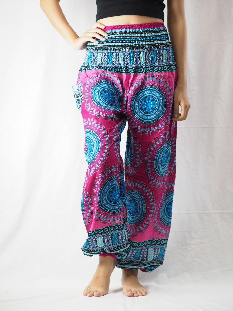 Colorful sunflower 94 women harem pants in Pink PP0004 020094 02