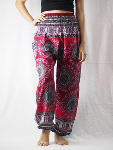 Colorful sunflower 95 women harem pants in Red PP0004 020095 02