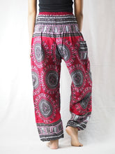 Load image into Gallery viewer, Colorful sunflower 95 women harem pants in Red PP0004 020095 02