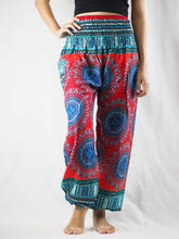 Load image into Gallery viewer, Colorful sunflower 94 women harem pants in Red PP0004 020094 04