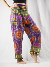 Load image into Gallery viewer, Colorful sunflower 94 women harem pants in Purple PP0004 020094 05
