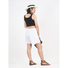 Load image into Gallery viewer, Solid Color Women's Wrap Shorts Pants in White PP0205 020000 04