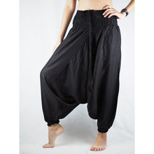 Load image into Gallery viewer, Solid Color Unisex Aladdin Drop Crotch Pants in Black PP0056 020000 10