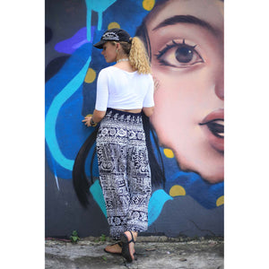 Urban Print 1 women/men harem pants in Black PP0004 020001 01