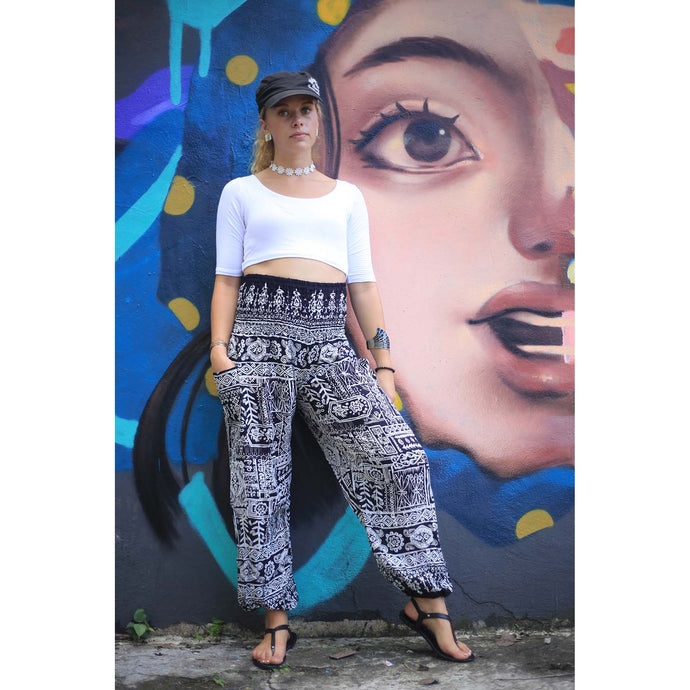 Urban Print 1 women's harem pants in Black PP0004 020001 01