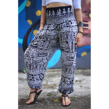 Load image into Gallery viewer, Urban Print 1 women/men harem pants in Black PP0004 020001 01