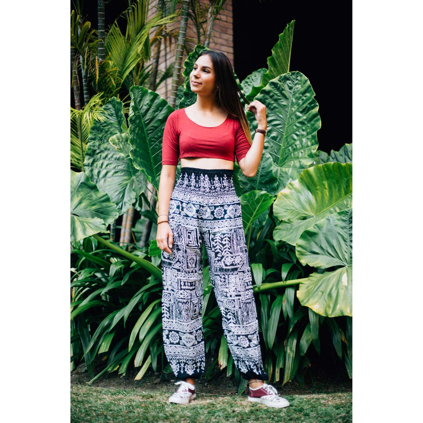 Urban Prints For women's Harem Pants in Black PP0004 020001 01