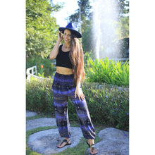 Load image into Gallery viewer, Paisley Buddha Women's Harem Pants in Navy Blue