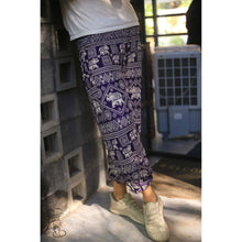Load image into Gallery viewer, African Elephant Women's Elephant Harem Pants in Purple