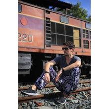 Load image into Gallery viewer, Imperial Elephant men's Elephant Harem Pants in Navy Blue