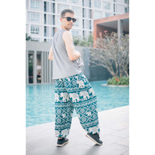 Load image into Gallery viewer, Imperial Elephant 5 men/women harem pants in Green PP0004 020005 02
