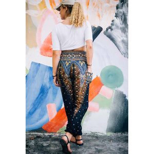 Peacock 7 men/women harem pants in Black Gold PP0004 020007 04