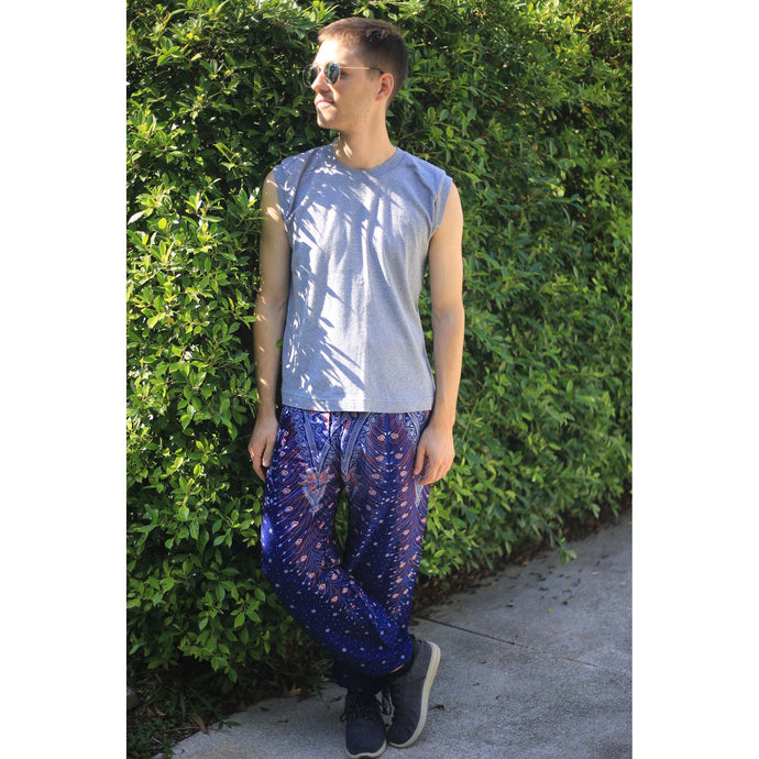 Peacock 7 men/women harem pants in Navy Blue PP0004 020007 05