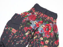 Load image into Gallery viewer, Floral Royal Unisex Kid Harem Pants in Black PP0004 020010 01