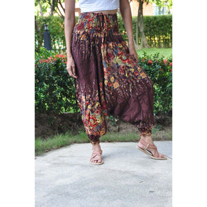 Floral Royal Unisex Aladdin drop crotch pants in Brown PP0056 020010 05