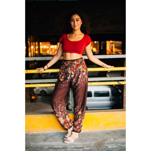 Floral Royal 10 Women harem pants in brown PP0004 020010 05