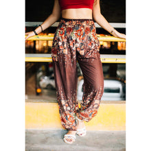 Load image into Gallery viewer, Floral Royal 10 Women harem pants in brown PP0004 020010 05