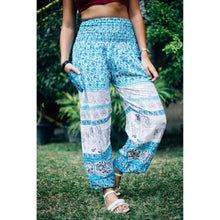 Load image into Gallery viewer, Cute elephant 12 women harem pants in Blue PP0004 020012 03