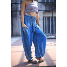 Load image into Gallery viewer, Peacock Feather Dream 15 women harem pants in Ocean Blue PP0004 020015 02