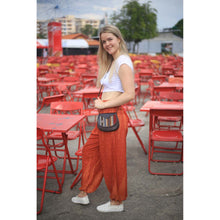 Load image into Gallery viewer, Peacock Feather Dream 15 women harem pants in Orange PP0004 020015 03