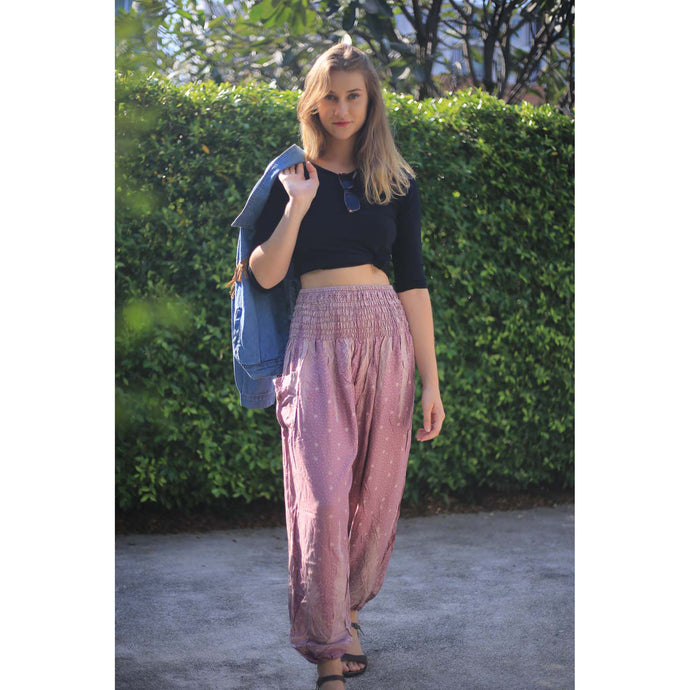 Peacock Feather Dream 15 women harem pants in Pink PP0004 020015 05