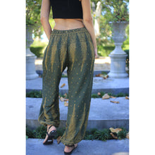 Load image into Gallery viewer, Peacock Feather Dream 15 women harem pants in Green PP0004 020015 10