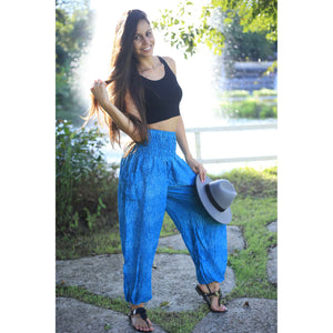 Paisley Mystery Women's Harem Pants in Blue