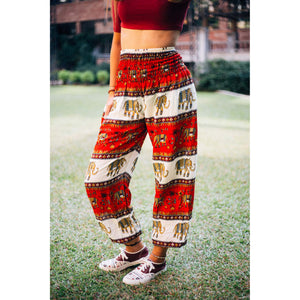 Royal Elephant Women's Elephant Harem Pants in Red