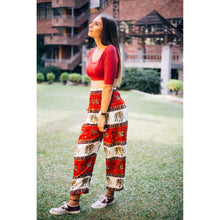 Load image into Gallery viewer, Royal Elephant Women's Elephant Harem Pants in Red