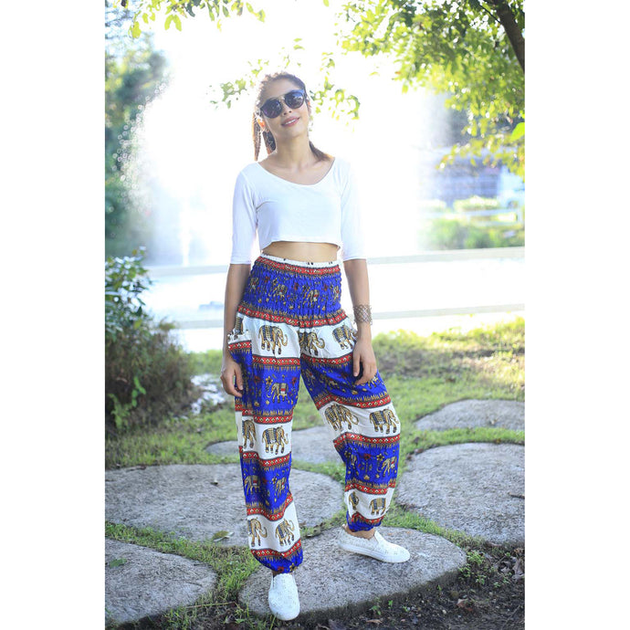 Royal Elephant women Harem Pants in Bright blue PP0004 020024 03