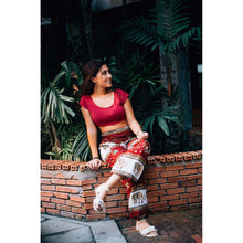 Load image into Gallery viewer, Royal Elephant Women Harem Pants in Dark Red PP0004 020024 04
