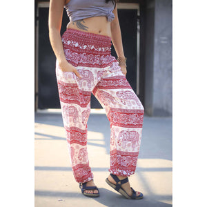 Cute elephant 27 men/women harem pants in Red PP0004 020027 03